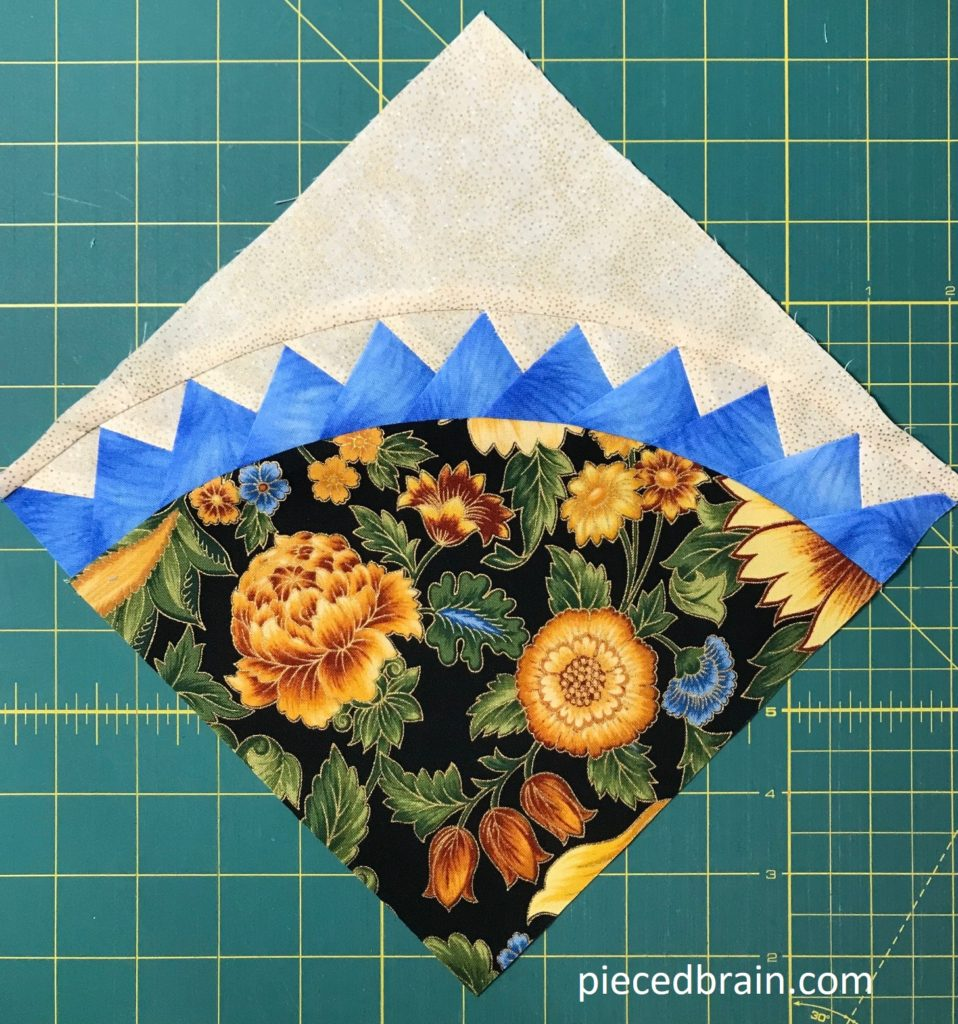 Curved Paper Piecing Tutorial With Step By Step Photos Pieced Brain