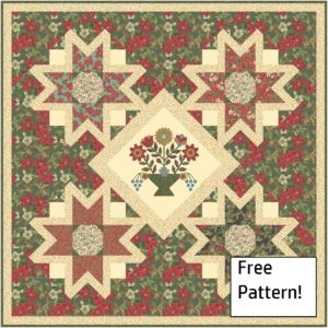 Get this free quilting pattern for a Christmas wall hanging