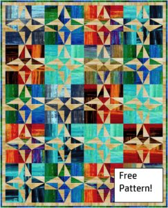 Barn quilt pattern to make with fabric