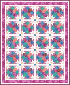 Easy pattern for quilt – a scrappy quilter's dream.