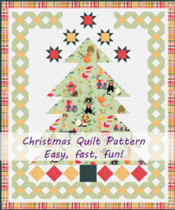Christmas tree quilt pattern to make in one day