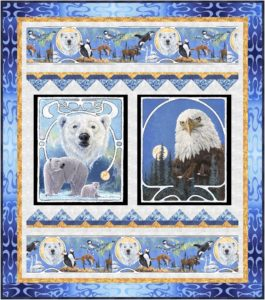 Free quilt patterns with wildlife panels
