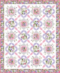 Make this quilt pattern with floral fabrics