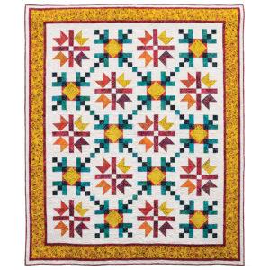 Corn maze and pumpkin spice on a quilt!