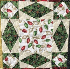 Christmas quilting for decoration or gifts